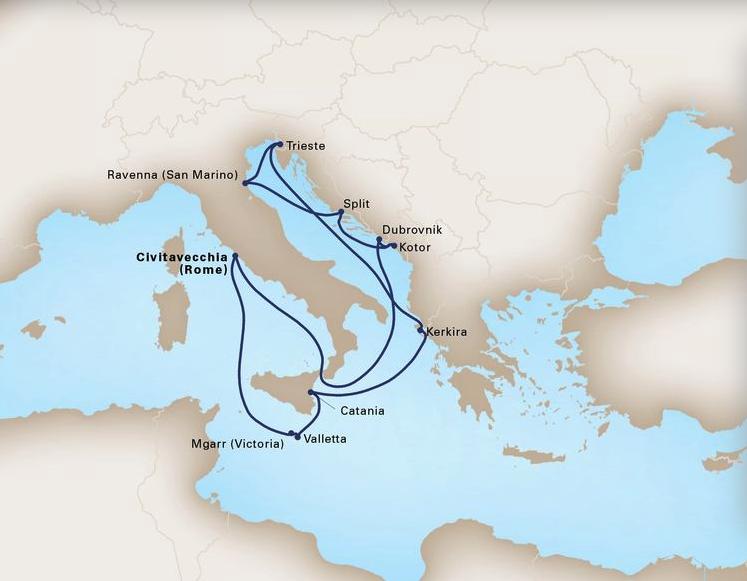 13 Day Mediterranean LegendsKoningsdam®Roundtrip Civitavecchia (Rome)June 24, 2019 -