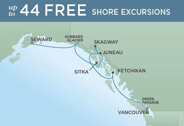 Seward to Vancouver - June 19, 2019 | 7 NightsSeven Seas Mariner®$1100 SBC per suite