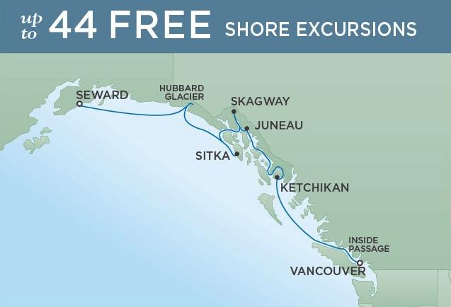 Vancouver to Seward - August 07, 2019 | 7 NightsSeven Seas Mariner®$1100 SBC per suite