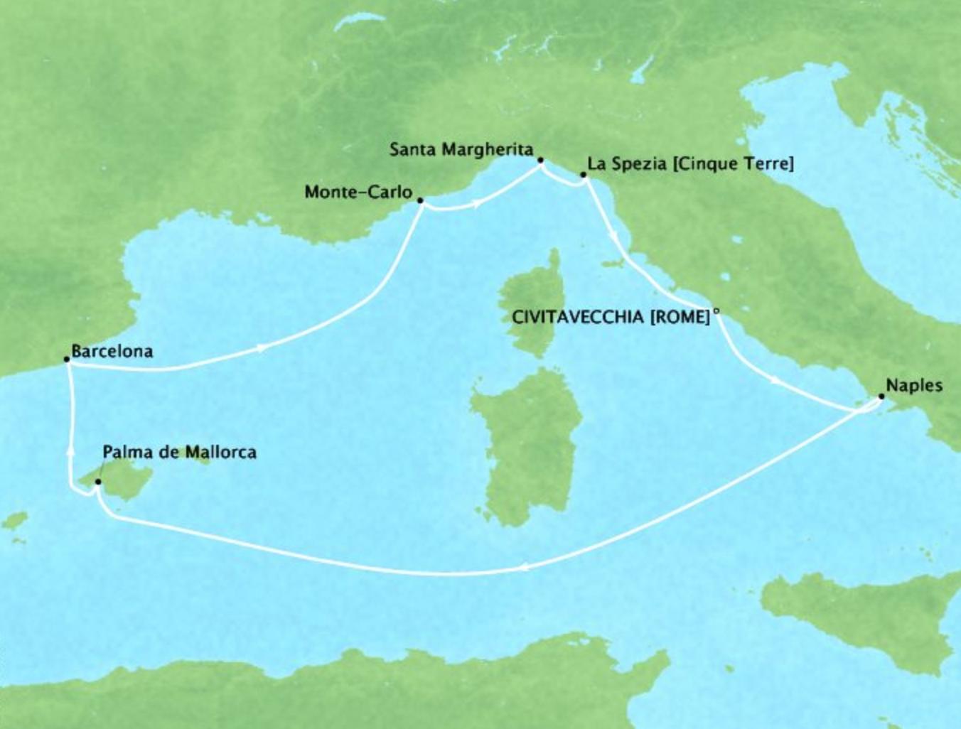 Italy, Spain, and Monaco - 11 DaysMultiple datesCivitavecchia, Italy to Civitavecchia, ItalyVirtuoso Voyages benefit