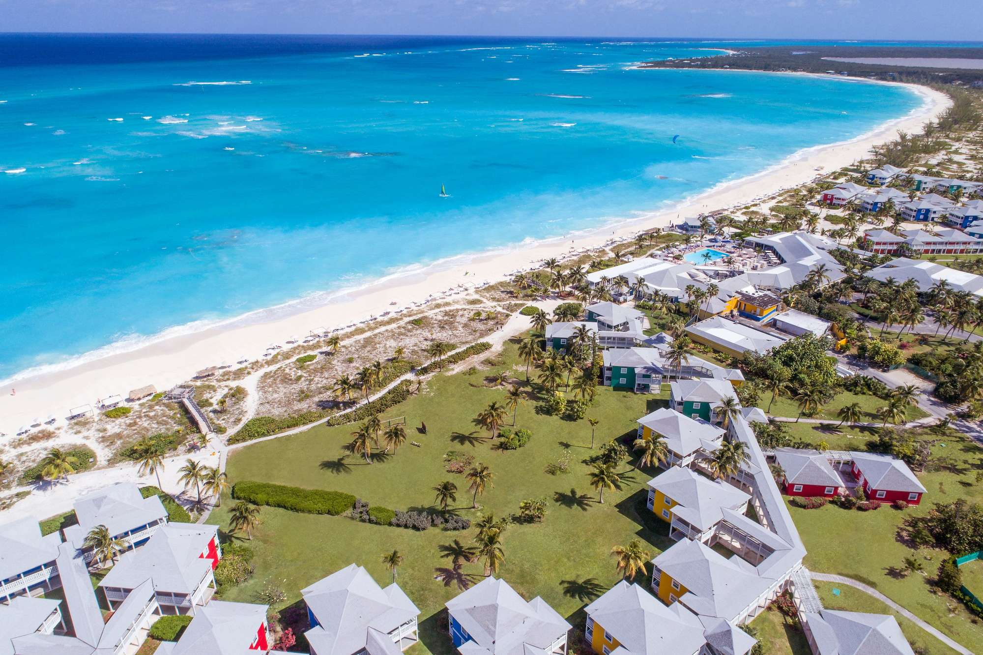 Columbus Isle, The Bahamas - The remote island of San Salvador in the Bahamas is the home of Club Med Columbus Isle, an all-inclusive resort featuring world-class scuba diving, sugar-white-sand beaches, and excellent amenities. This hidden gem is perfect for a romantic couple's escape!