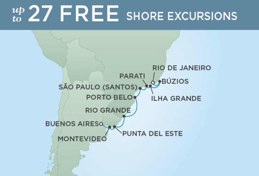 BUENOS AIRES TO RIO DE JANEIRO - RETURN TO BRAZIL 10 NIGHTS DEPARTS DEC 07, 2019 SEVEN SEAS MARINER