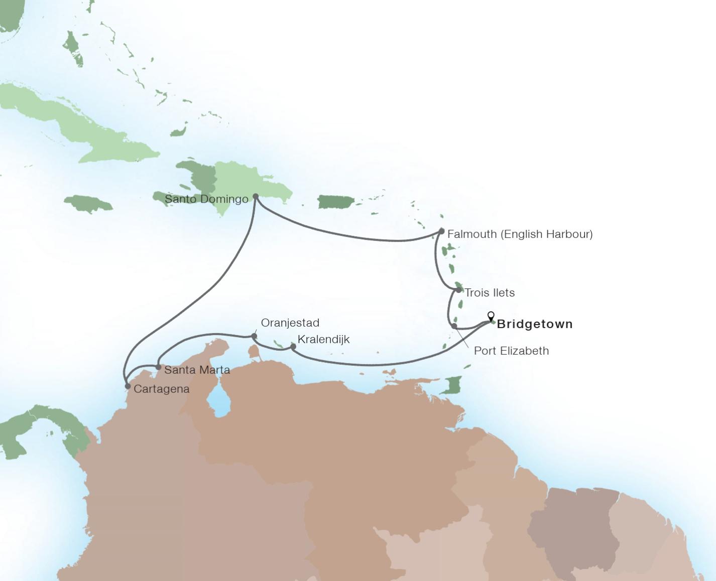 14-Day Holiday Caribbean - SEABOURN ODYSSEYRoundtrip Bridgetown, Barbados
