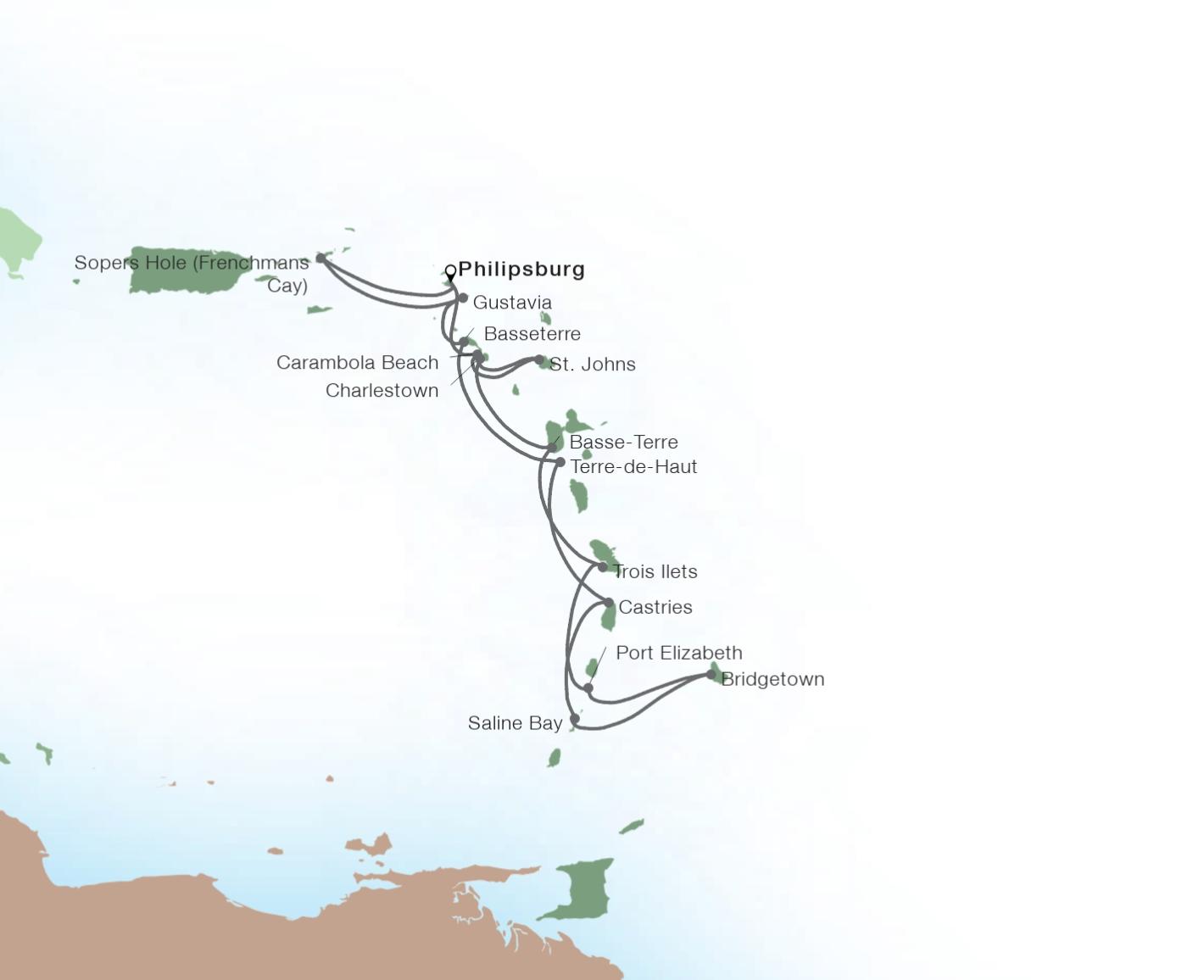 14-Day Caribbean Gems In-Depth - SEABOURN ODYSSEYPhilipsburg, Sint Maarten to Philipsburg, Sint Maarten