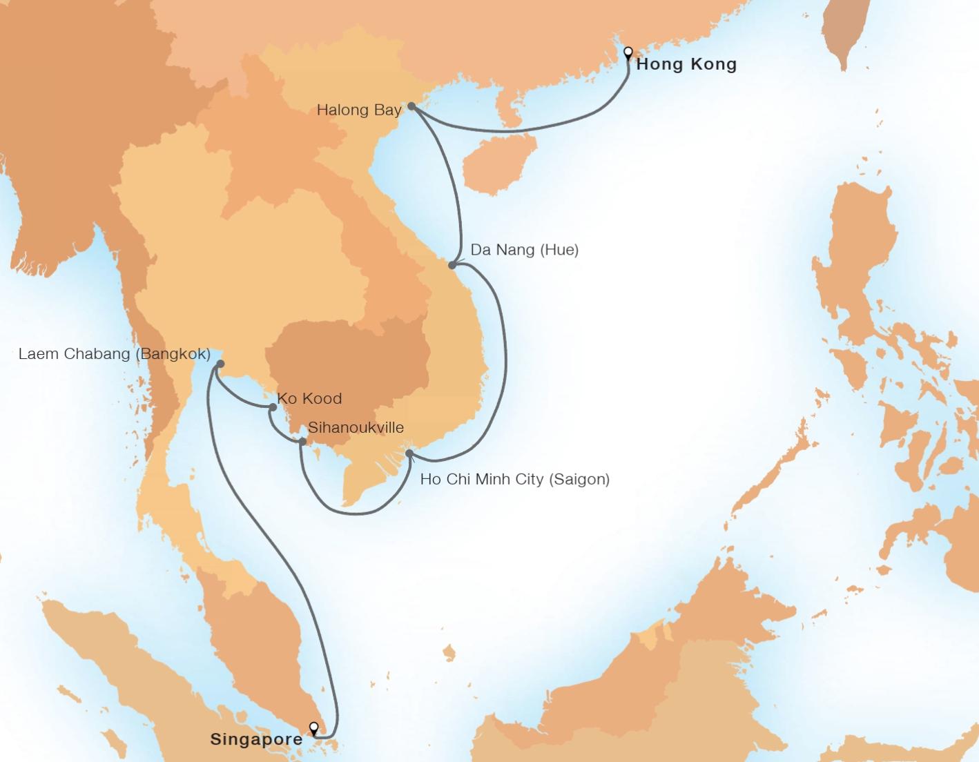 14-Day Holiday Thailand & Vietnam - SEABOURN OVATIONSingapore to Hong Kong, China