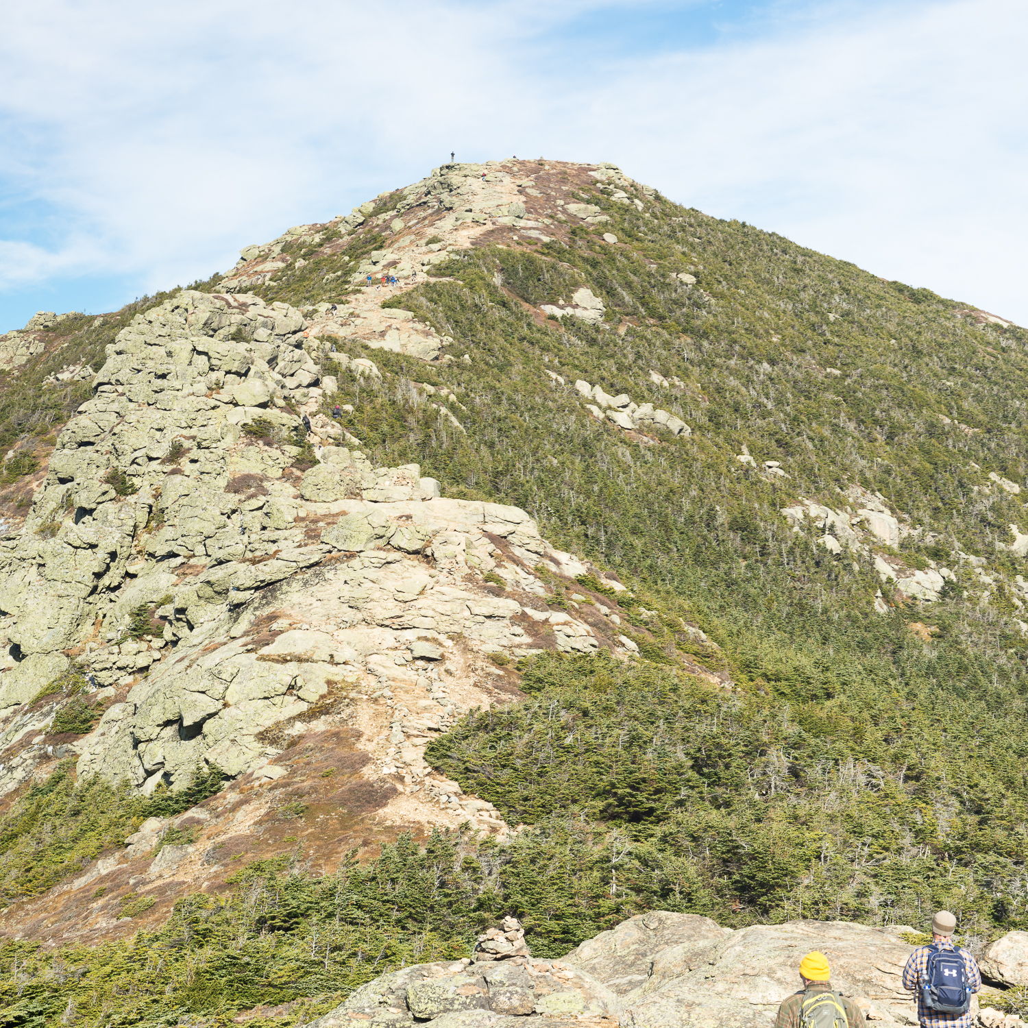 The trail up Mount Lafayette