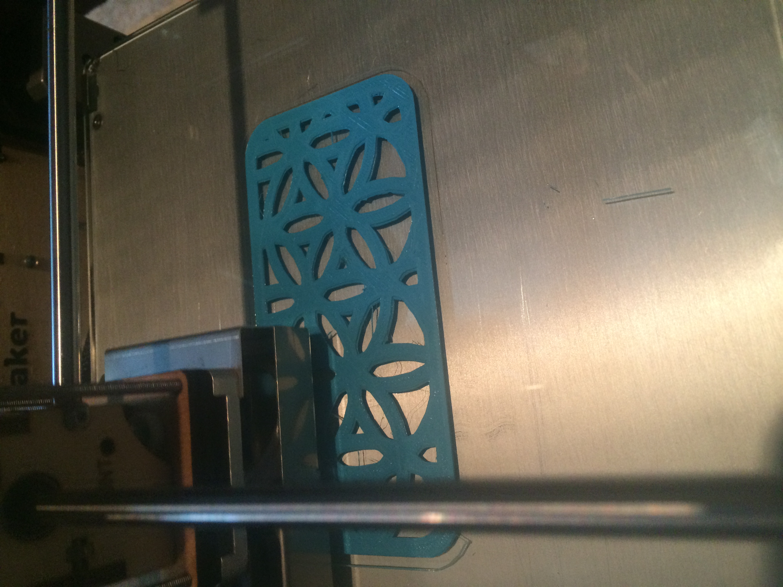 Printing an iPhone 5 case.
