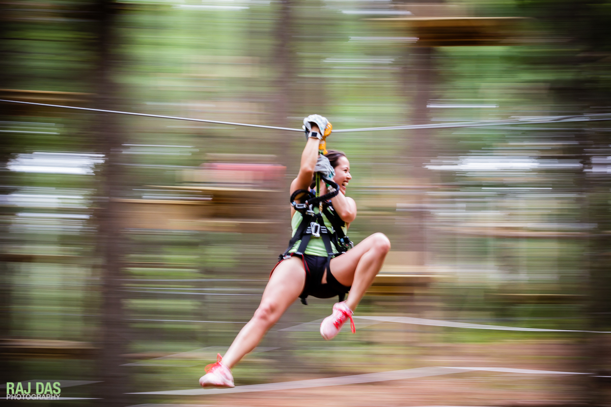 Zip-lining through the tree-tops is a fun and exhilarating experience