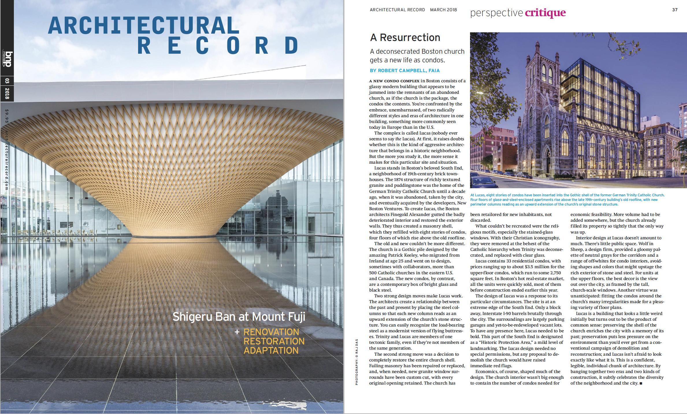 Architectural Record - March 2018