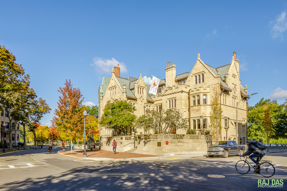 View of the Boston University Dahod Family Alumni Center a.k.a The Castle, from Bay State Road