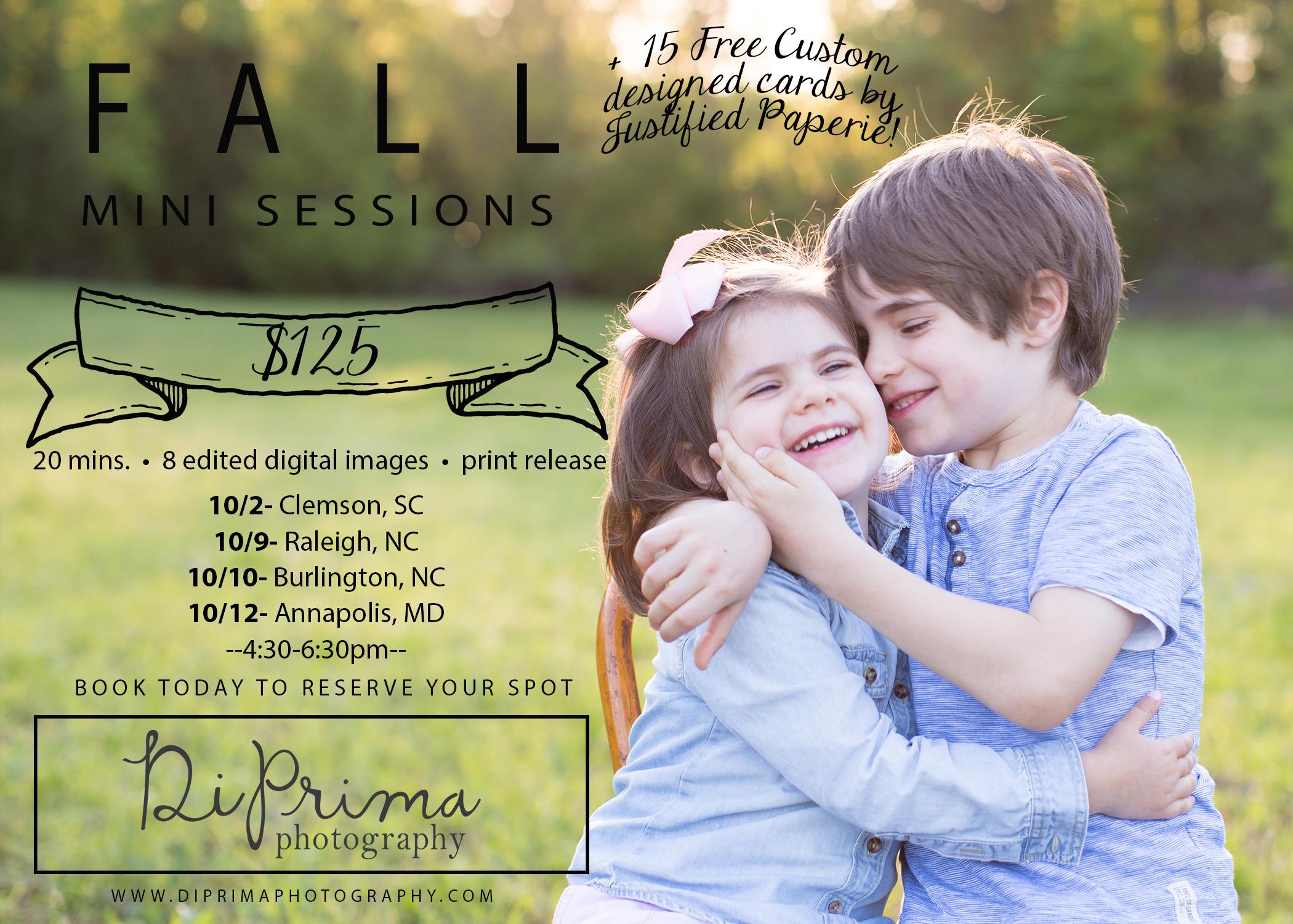 Fall Mini Sessions North Carolina