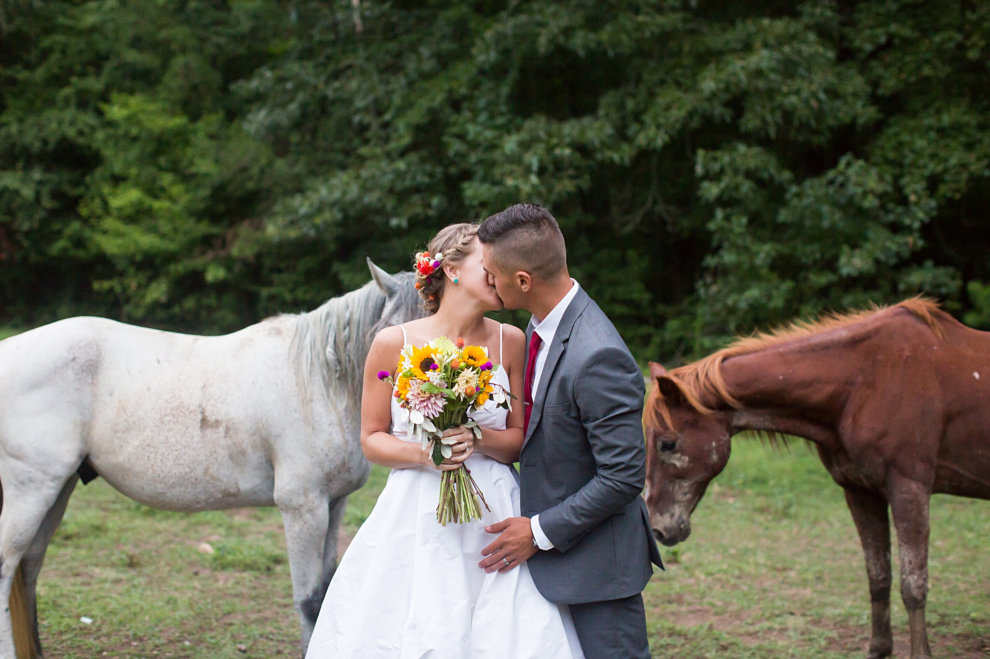 Rustic Wedding with Horses