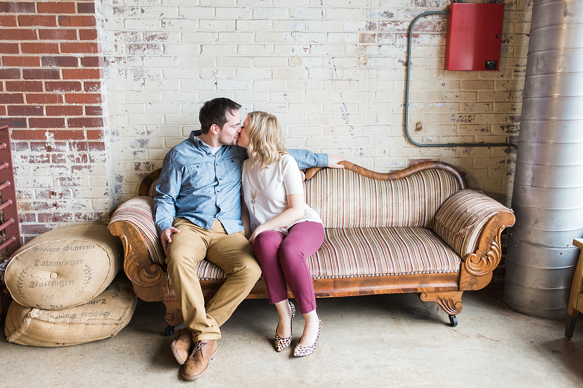 Engagement Pictures at Haw River Ballroom