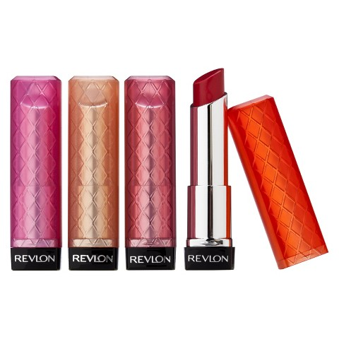 "Revlon Color Burst Lip Butter   ($8.49) I love this stuff! It's really moisturizing and is kind of a mix between lip stick and lip balm. I have the color ""Sweet Tart"" and wear it all the time. It looks super bright pink in the bottle but it looks lovely (and not too bright) on."