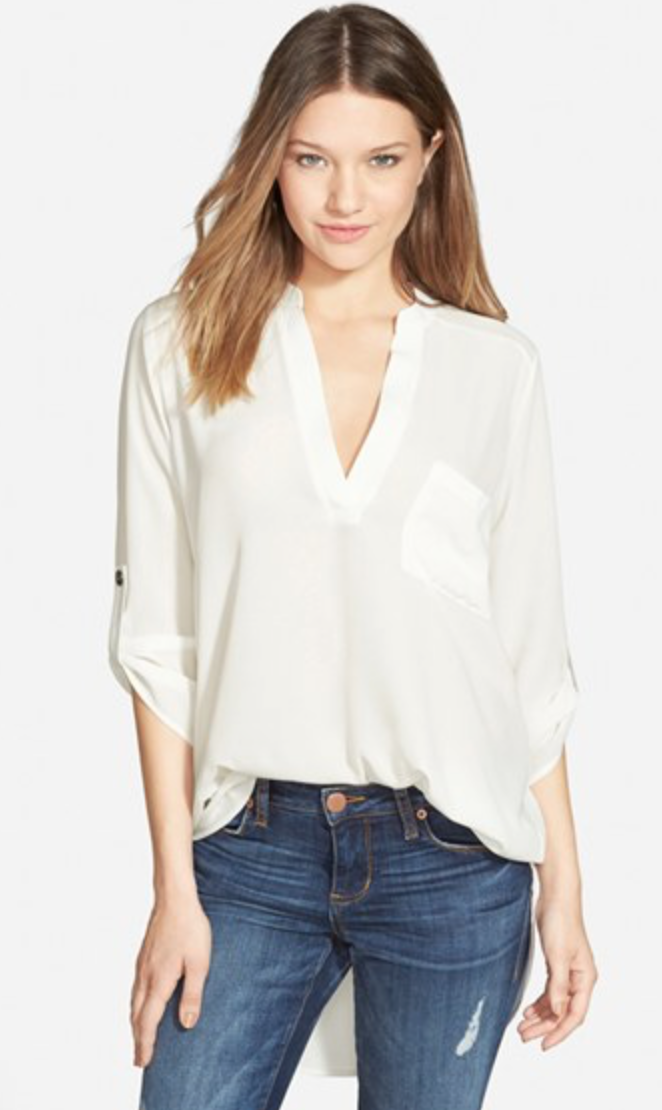Lush Roll Tab Tunic   (On Sale for $25)