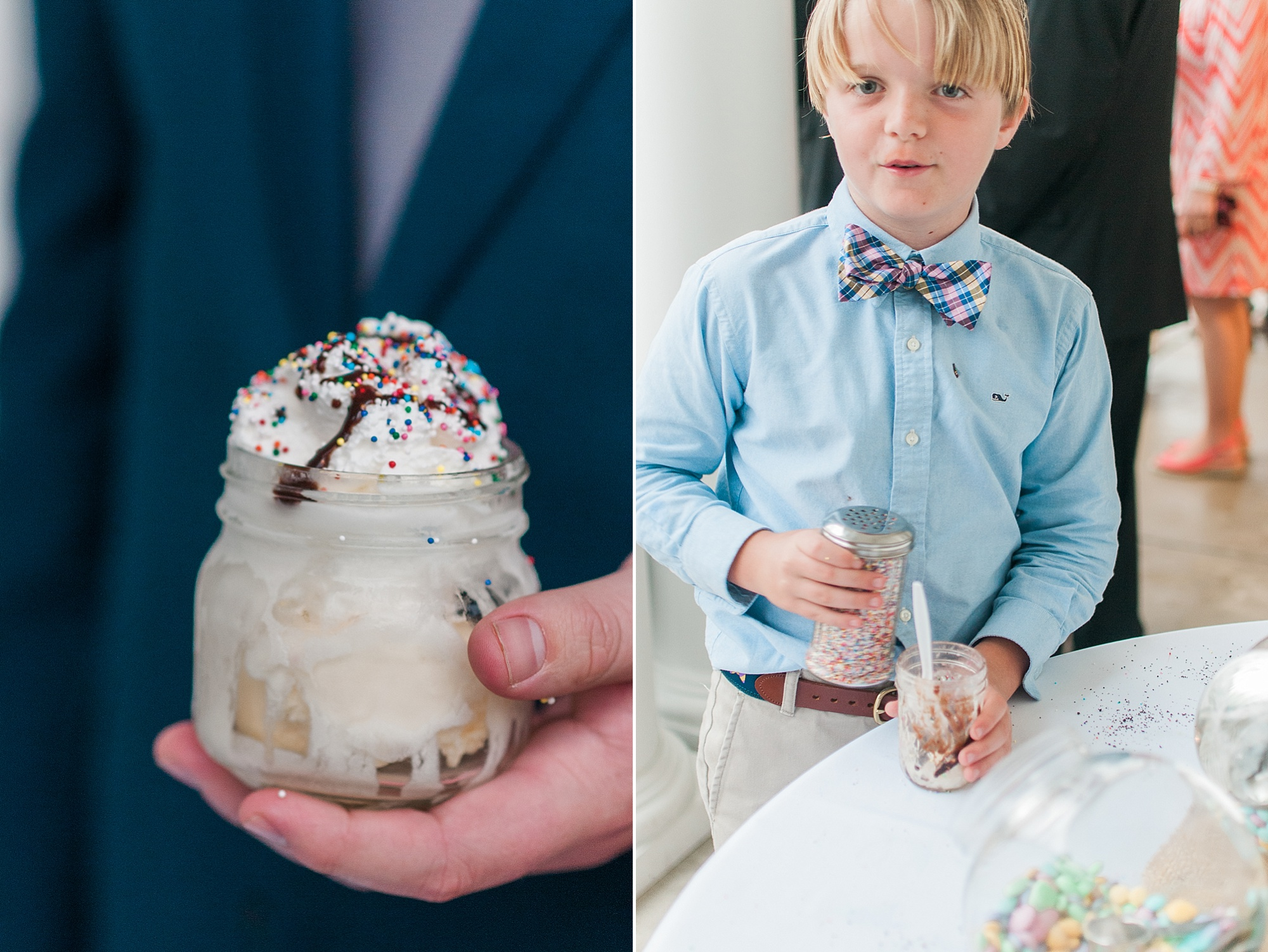 Sweet ice cream bar at wedding