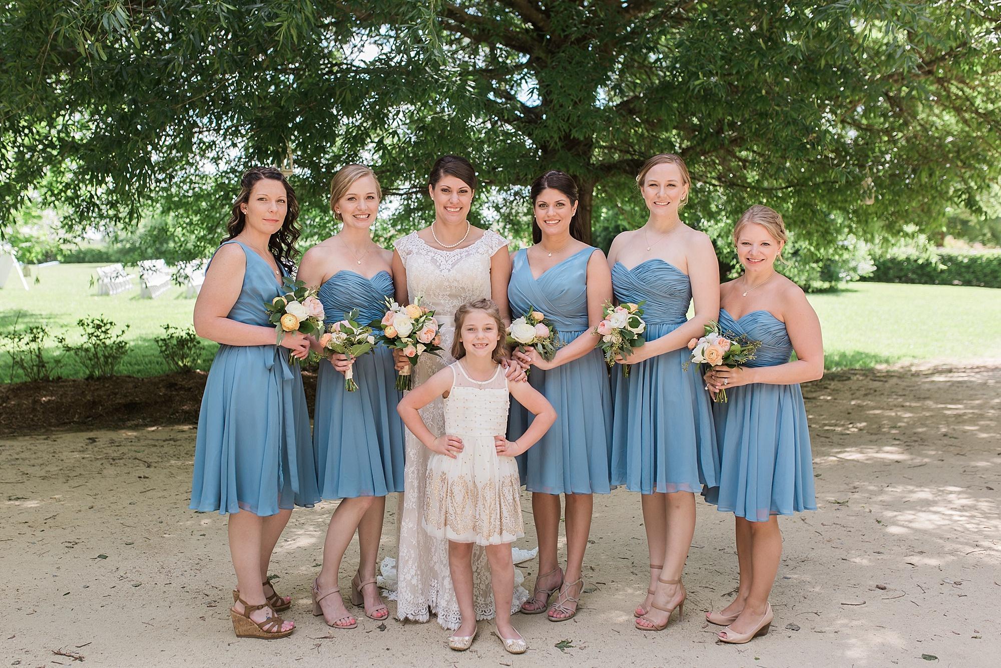Periwinkle blue bridesmaid dresses