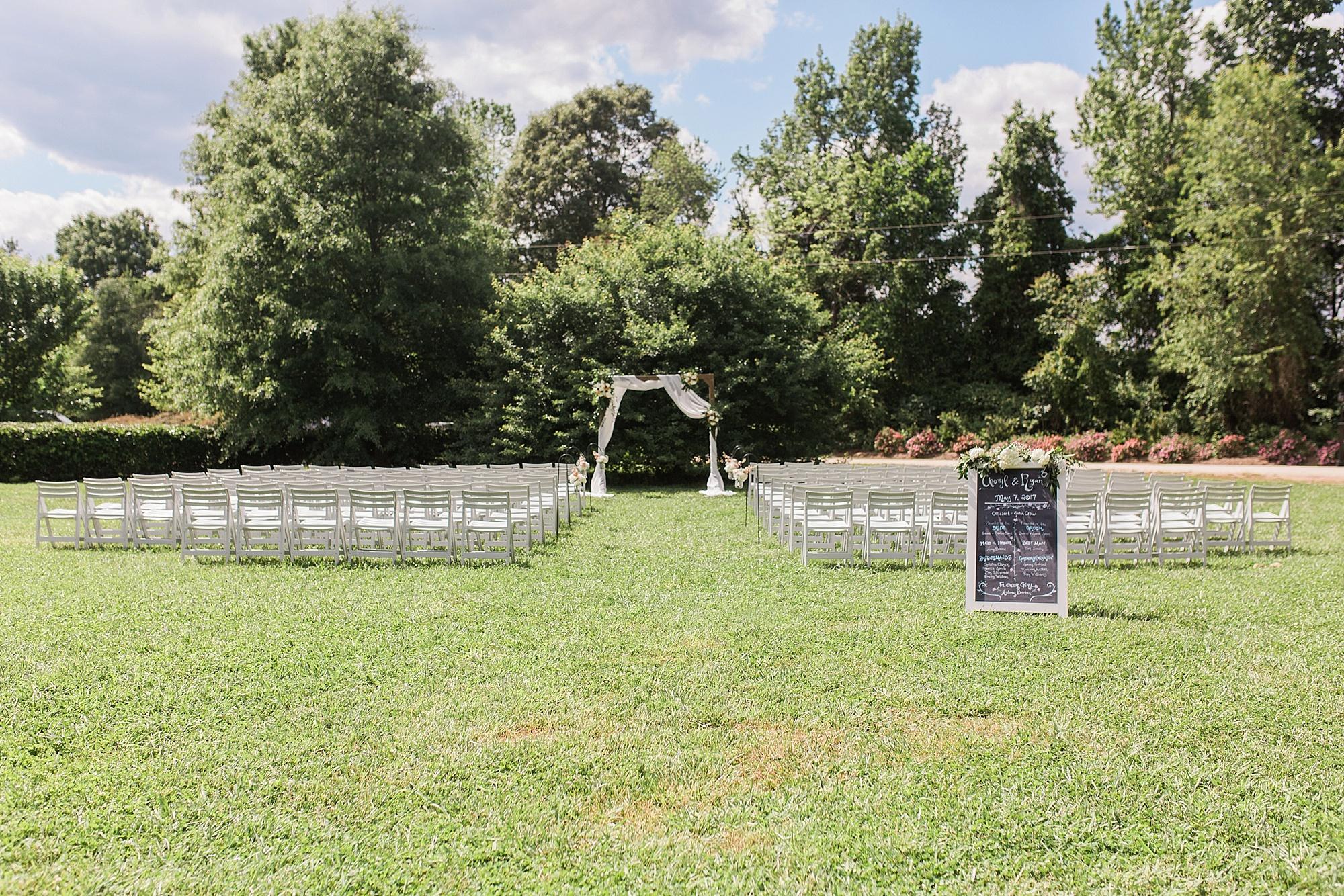Outdoor Wedding in North Carolina
