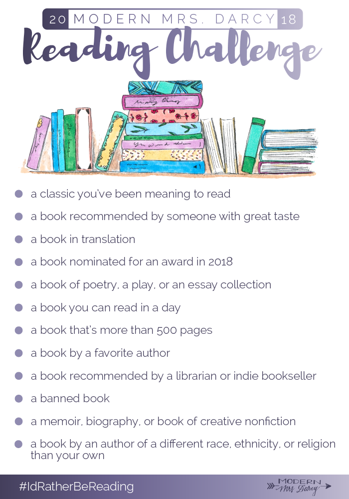Modern Mrs. Darcy Reading Challenge