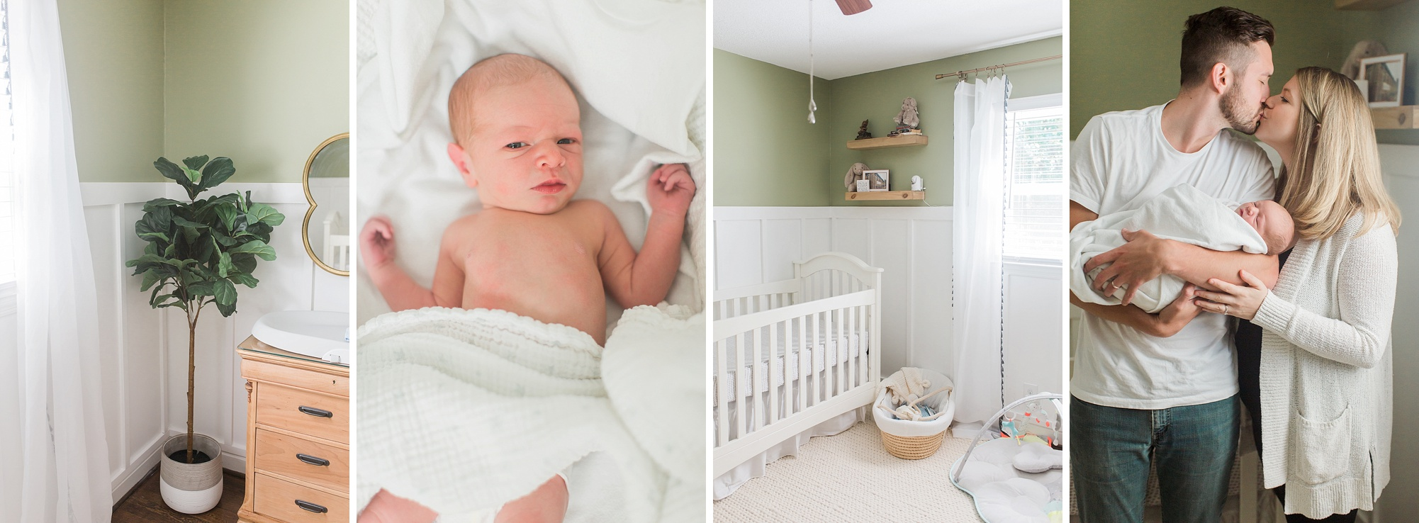 Lifestyle newborn photographer Winston-Salem NC