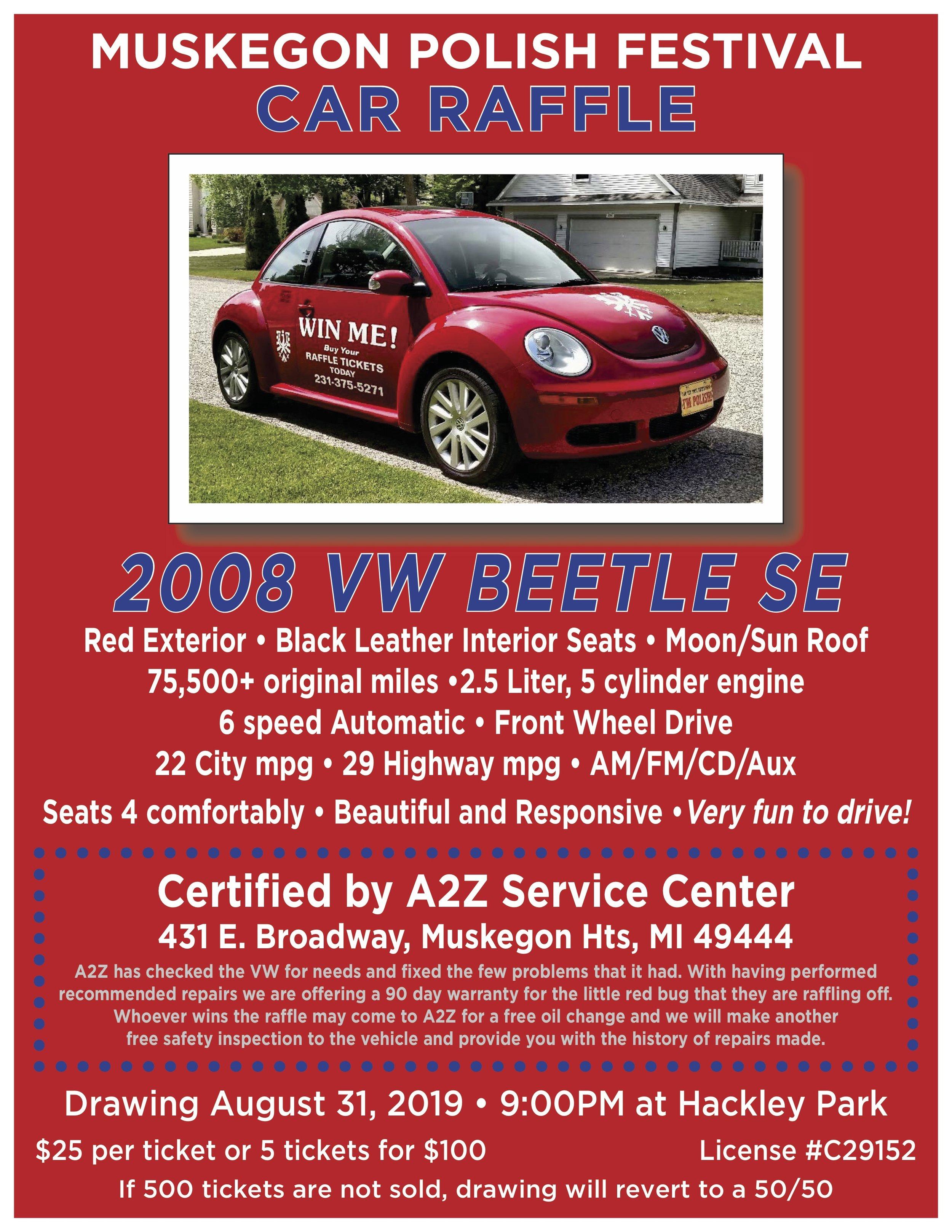 VW Bug Raffle!
