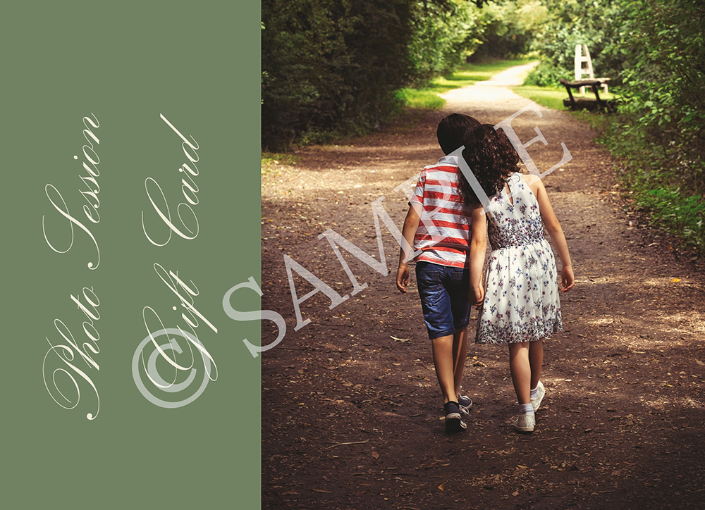 """- This one is a """"favourite-favourite"""" as they are both children & family - This brother and sister walking hand-in-hand is simply the perfect image for this Gift Card!"""
