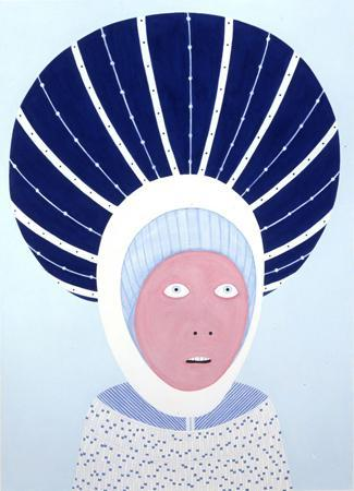 Untitled, 2004, gouache on paper, 28 x 20.4 in; photo courtesy the artist