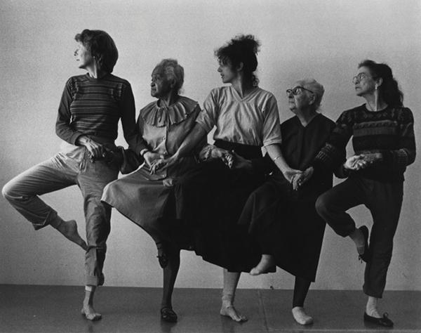 Swan Lake, 1982, dancers Judith Jourdin, Thelma Tulane, Liz Lerman, Vee Hollenbeck, Jess Rea; photo credit Dennis Deloria