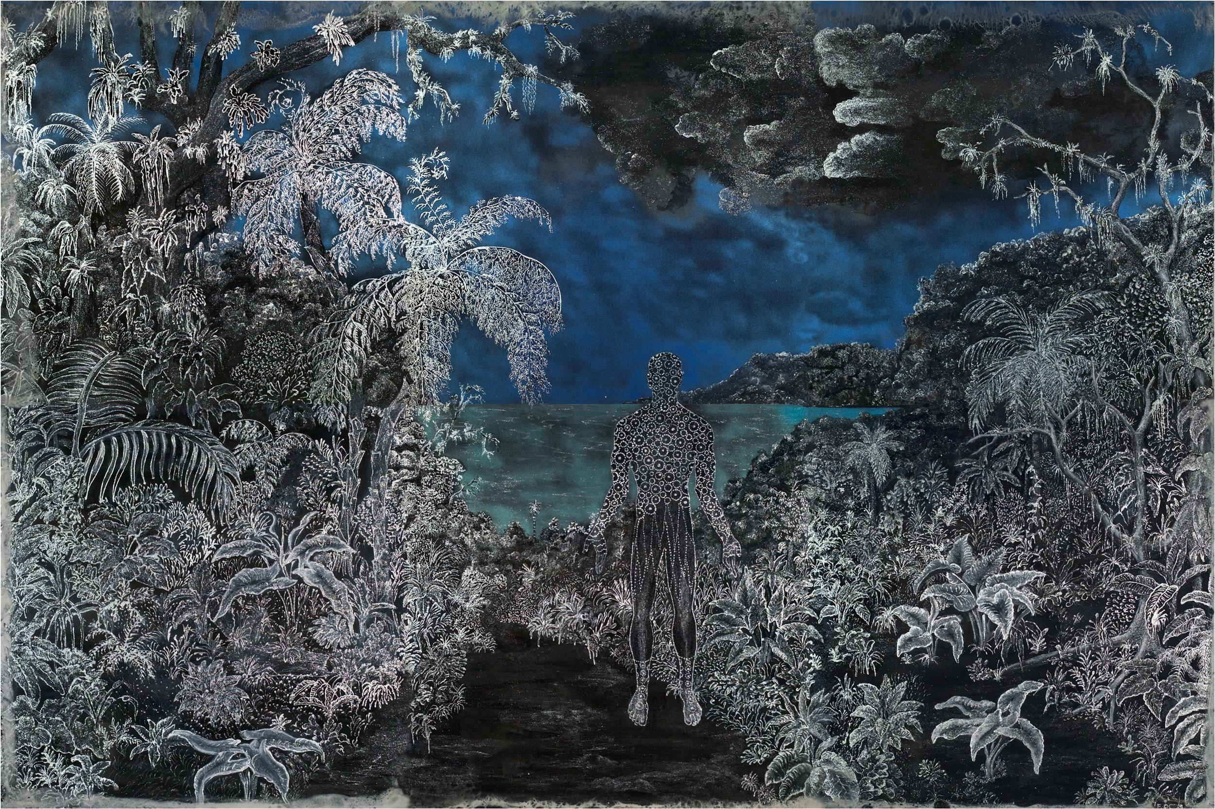 After Heade - Moonlit Landscape