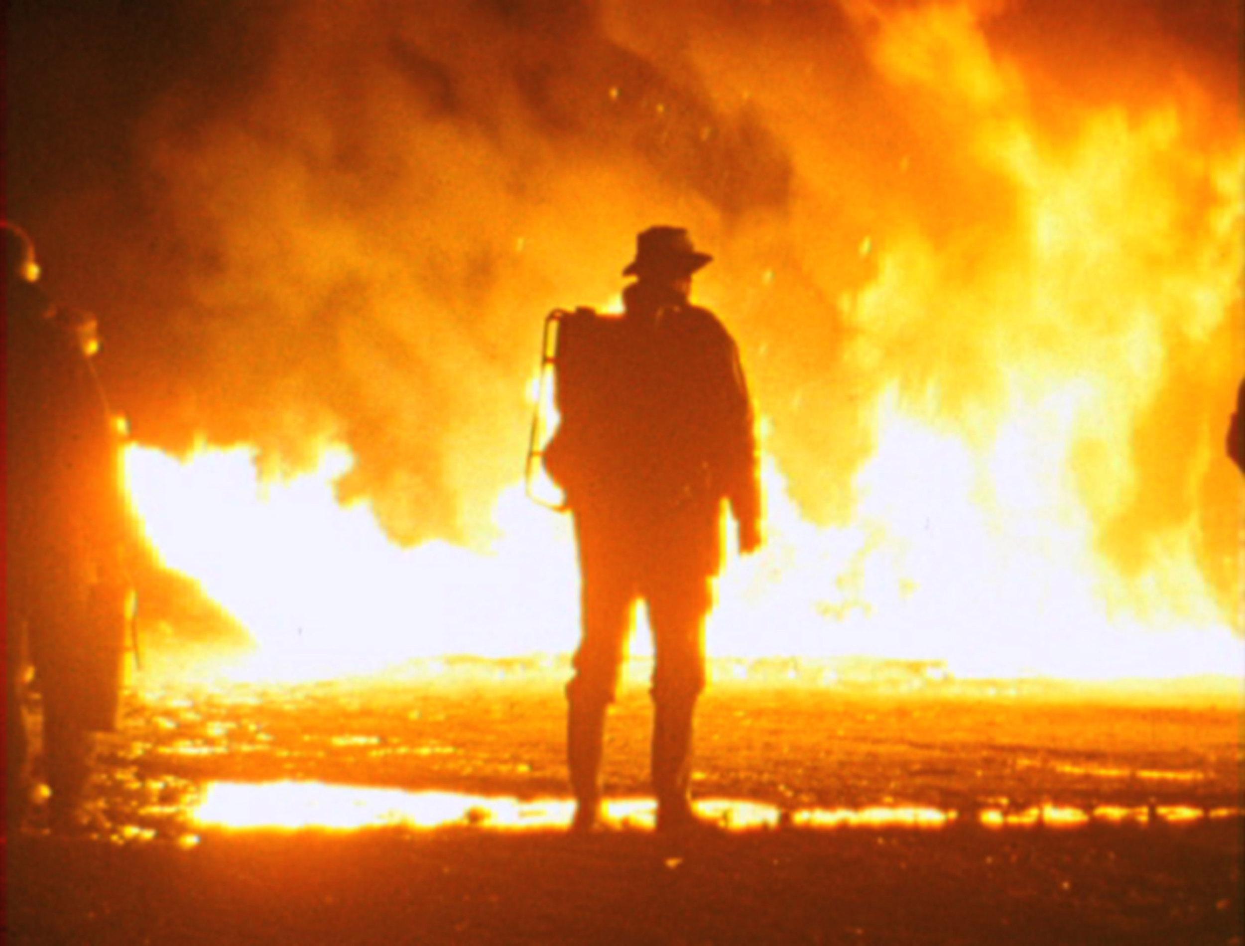 """Film still: """"O'er the Land"""", 2009"""