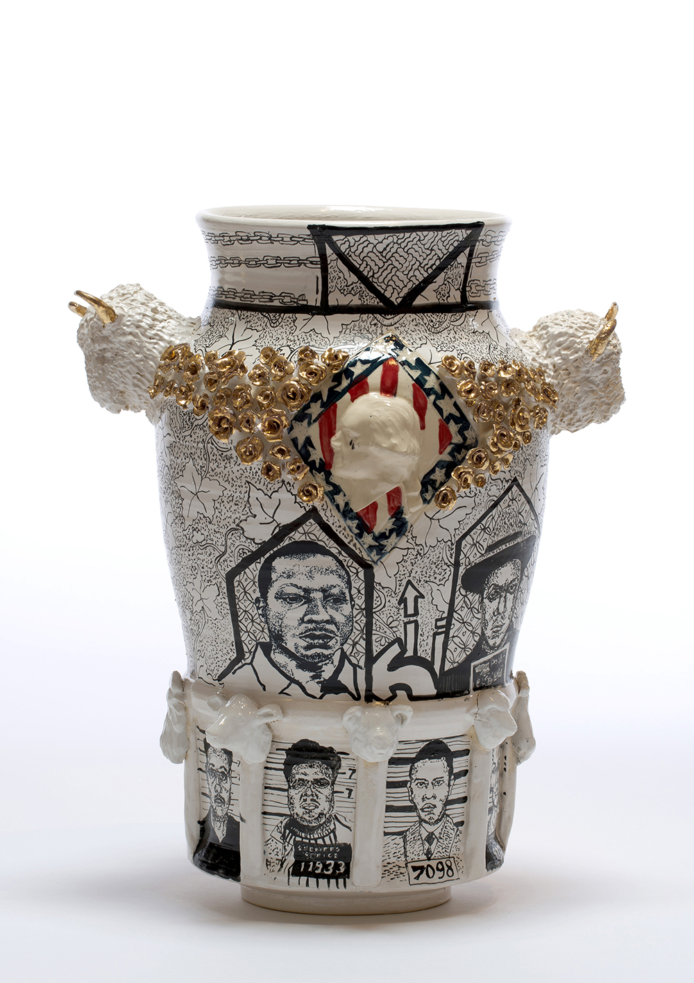 """""""A Century of Incarceration"""", Porcelain, 2016. Courtesy of the artist."""