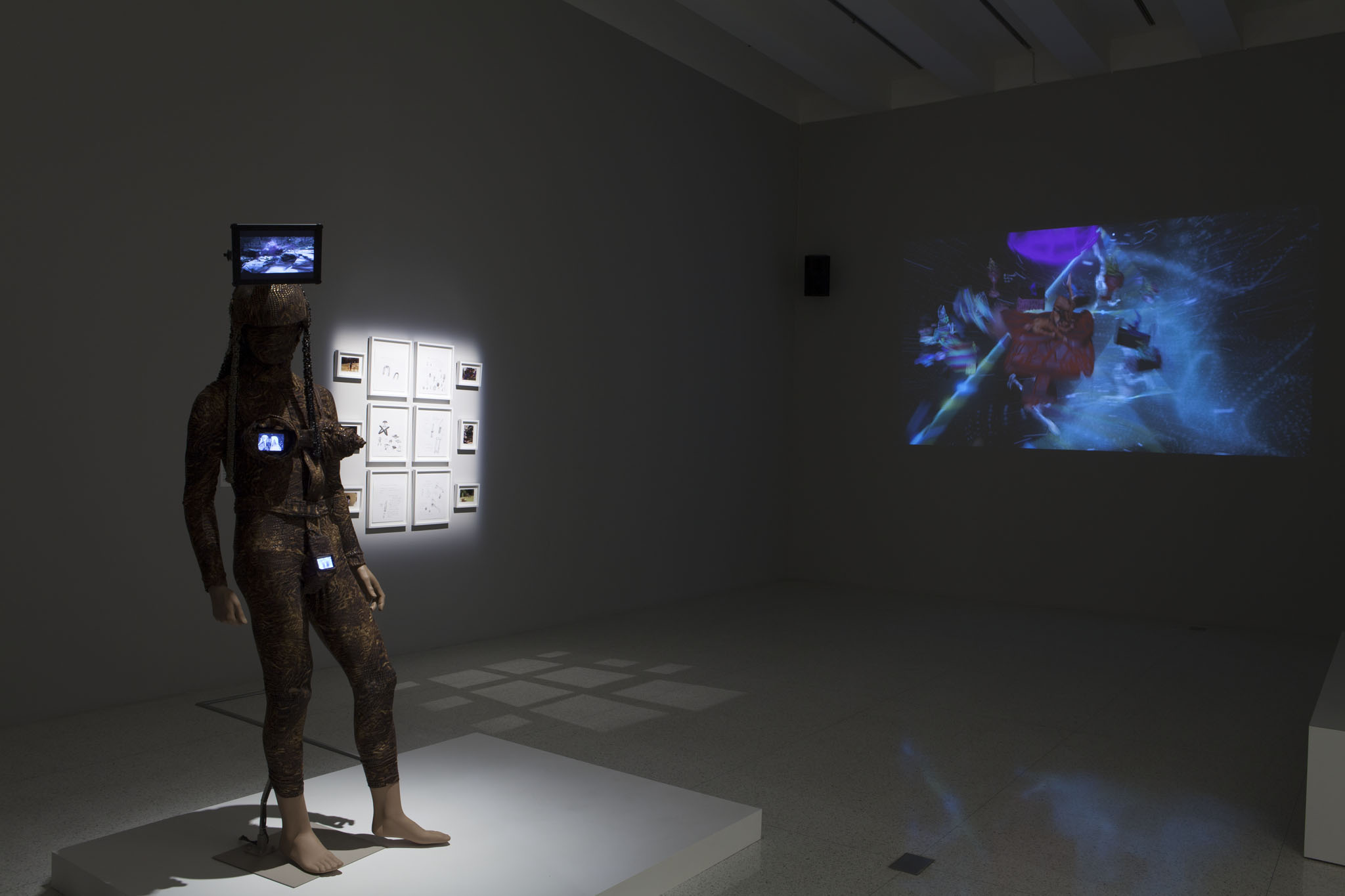 """Installation View of Satellites at Studio Museum in Harlem"". Photo courtesy of the artist."