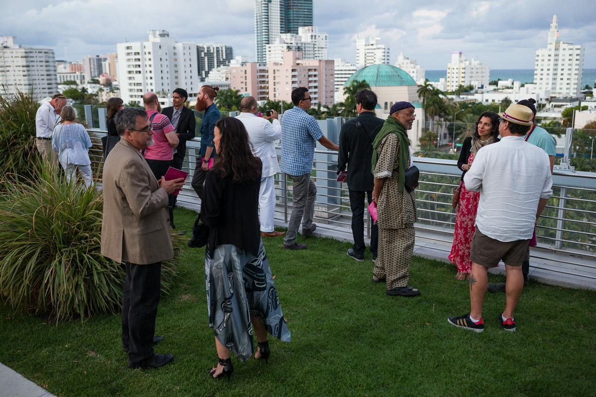 Participants of the reception at the New World Center