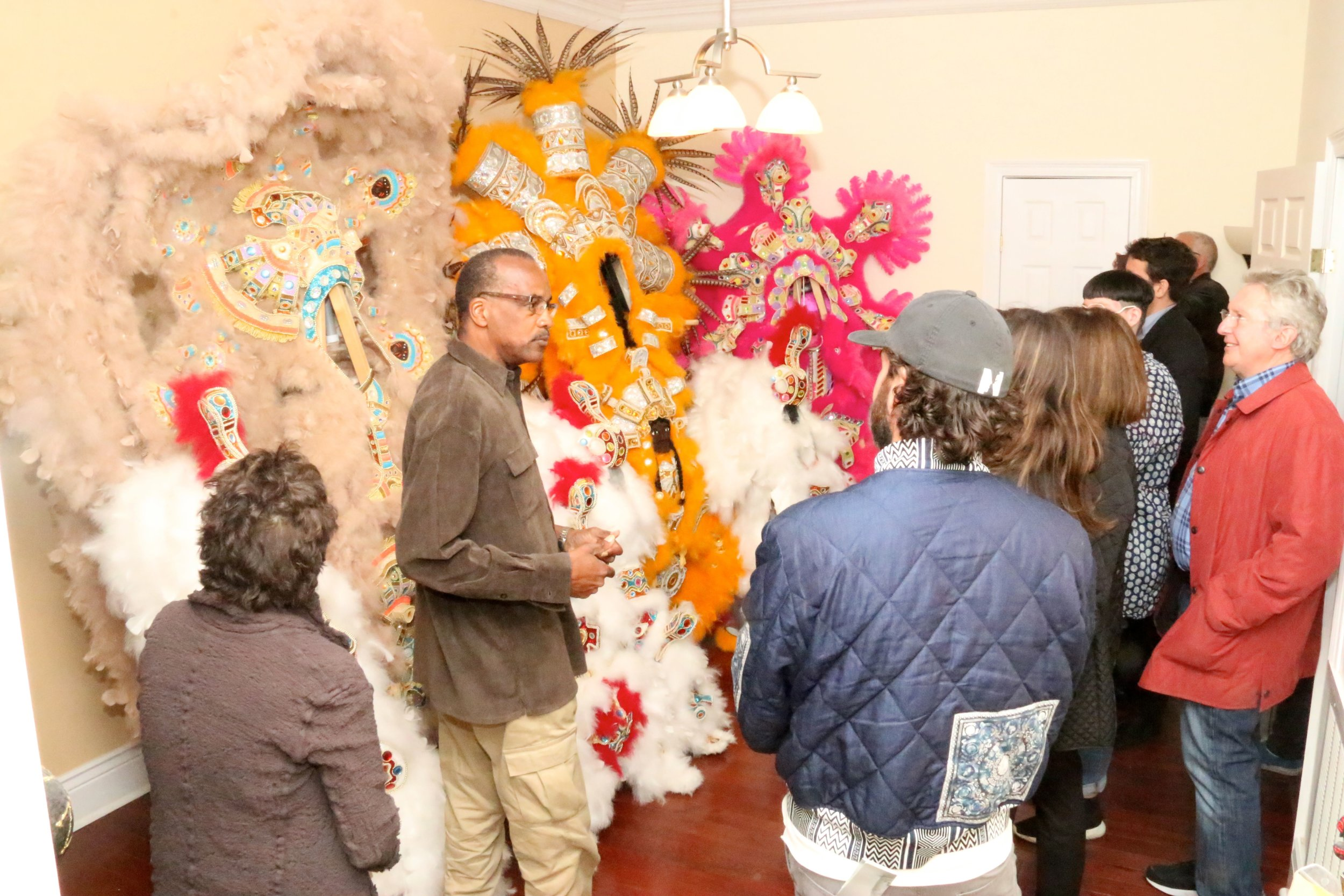 Ambassadors meet Darryl Montana,2014 USA Glasgow Fellow in Crafts & Traditional Arts for a studio tour during the NLC 2017 Artists Crawl