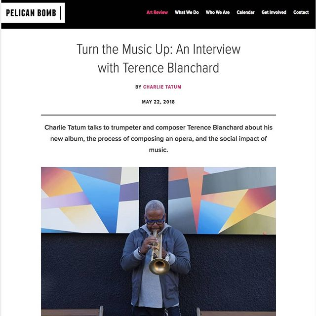 "Together with his band the E-Collective, 2018 USA Fellow in Music Terence Blanchard talks about his latest album, ""Live"", which was recorded at venues near sites of violence between African-American communities and police. . Check out this interview by Charlie Tatum @ctatum for @pelicanbomb as Blanchard discusses his recent journey and the healing power of music. 🎵🎶 . Click the link in bio ☝️ #USAFellows #UnitedStatesArtists"