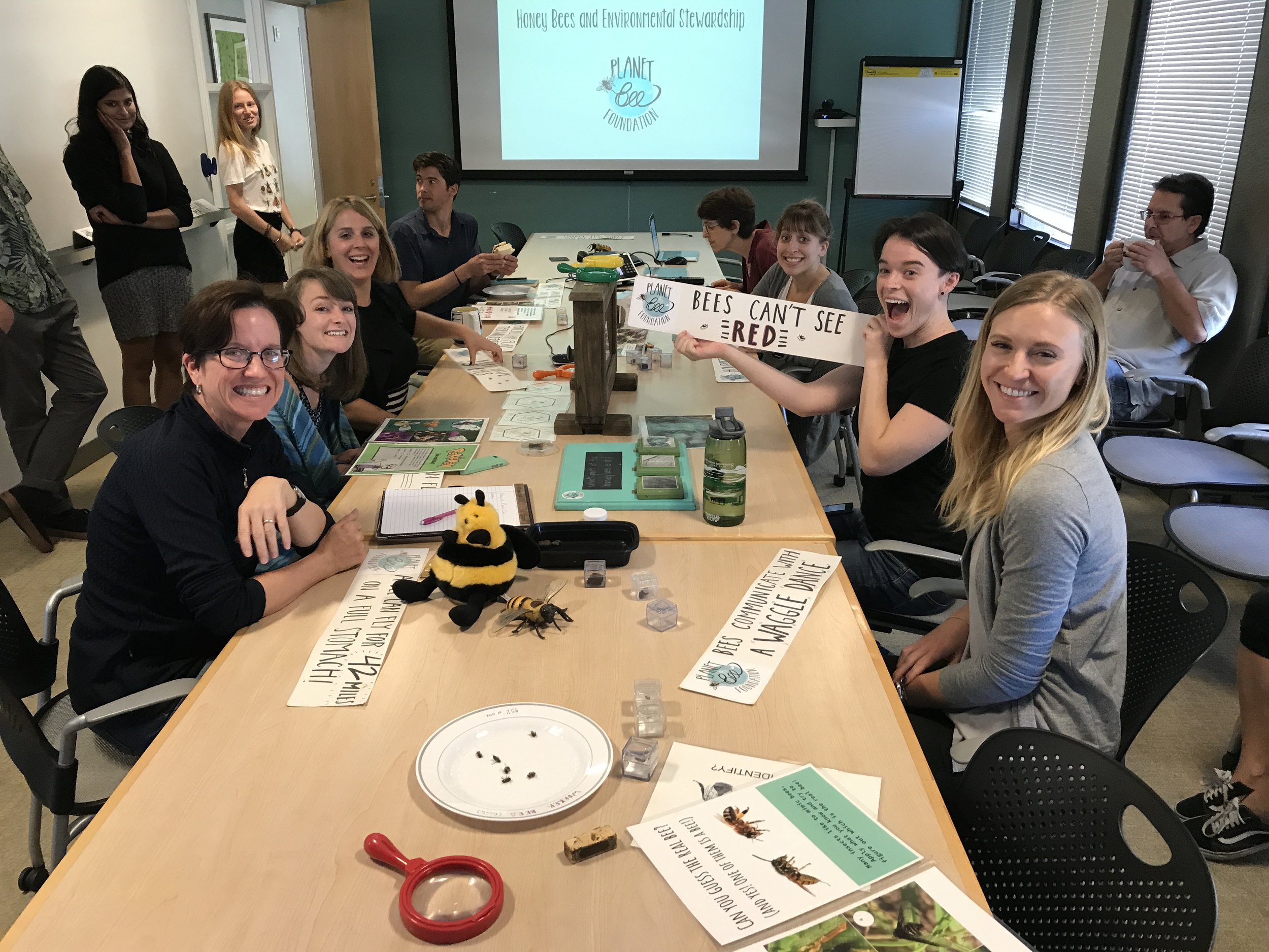 During our lunchtime talk at Earthjustice headquarters, employees shared their favorite facts about honey bees.