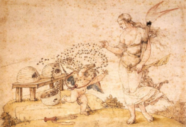Cupid the Honey Thief by Albrecht Durer, 1514.