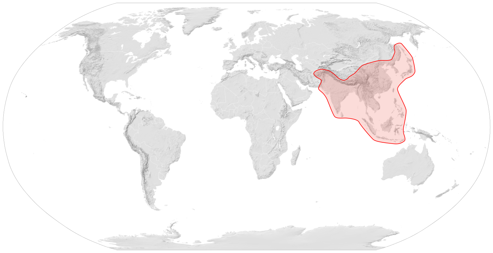 Apis Cerana  Distribution Map