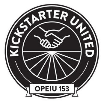 We support Kickstarter Untited! Stay updated on their efforts to unionize Kickstarter on Twitter  @ksr_united