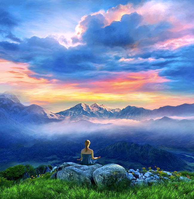 meditation-paintings-posters-artwork-yoga-spiritual-landscape-art-beautiful-peaceful-large-format-canvas-prints-zen-painter-of-light-thomas-kinkade-good-vibes-gallery-goodvibesgallery