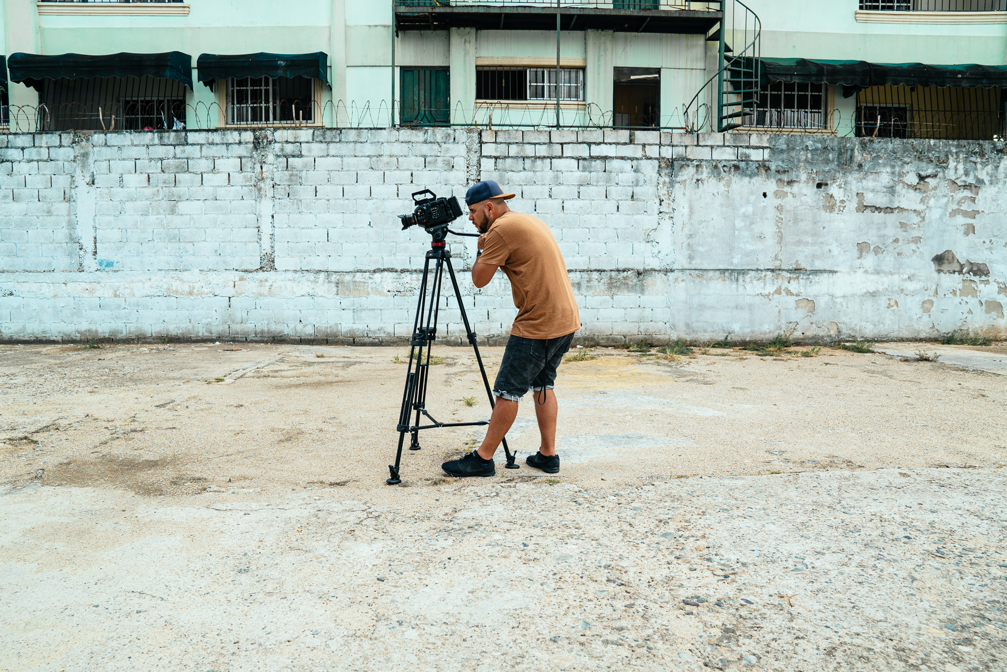 Day 2 // Esteban locks in the location and sets up to interview Carlos & Rogers about the need for God's Word in Streetlights form for this generation in the Dominican Republic and Latin America.