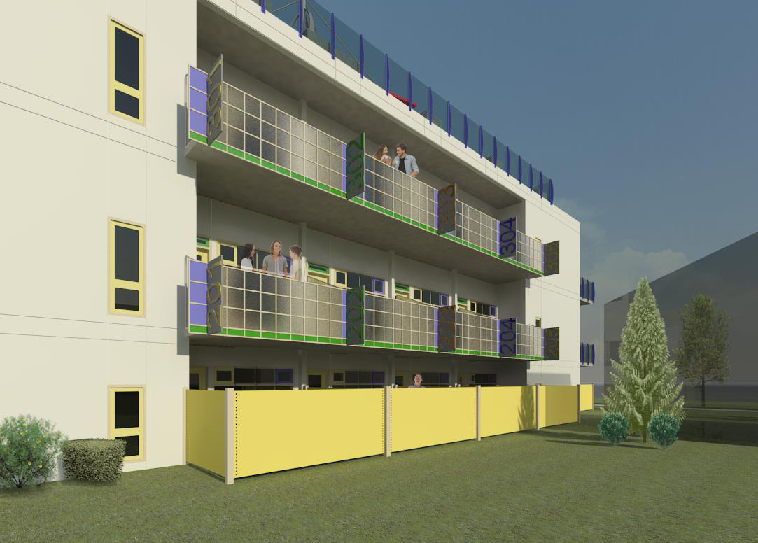 Rendered West Elevation - Updated with people.jpg
