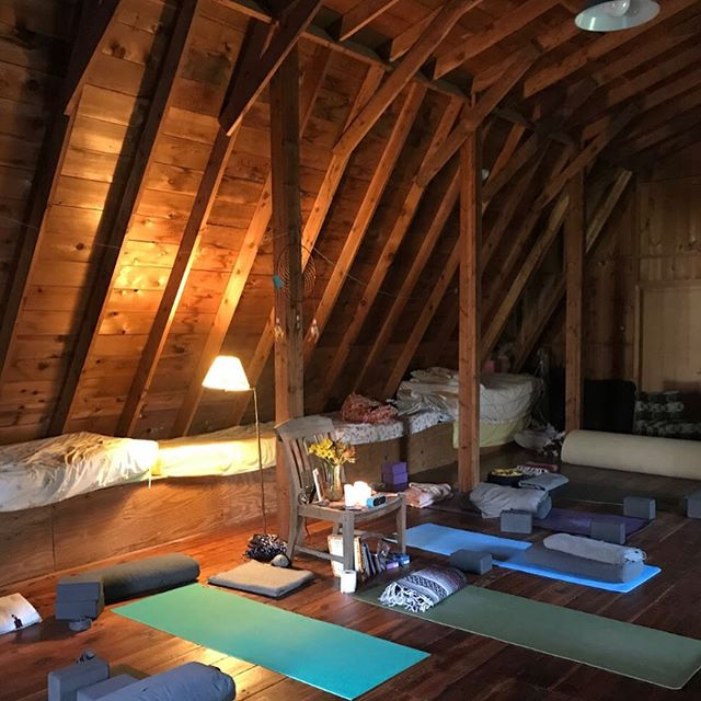 Have you ever done yoga in a barn? Join me and @sarah.lillian018 for a weekend of getting tucked in on the beautiful farm of Wellspring in West Bend, WI. August 9-11. Registration ends next week so sign up with the link in my bio. We would love to see you there