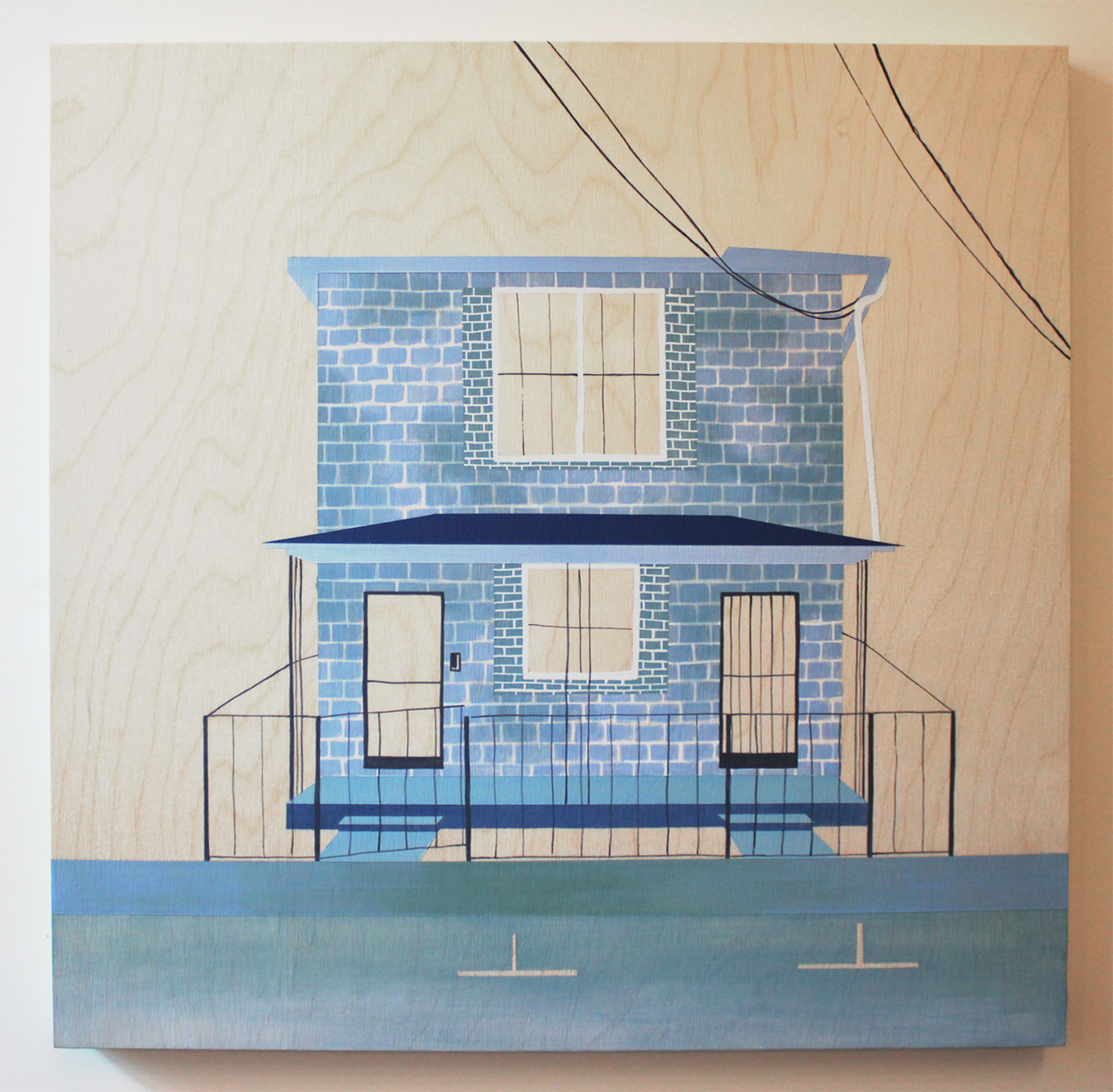 Blue Brick on Bogart     Alex Waggoner
