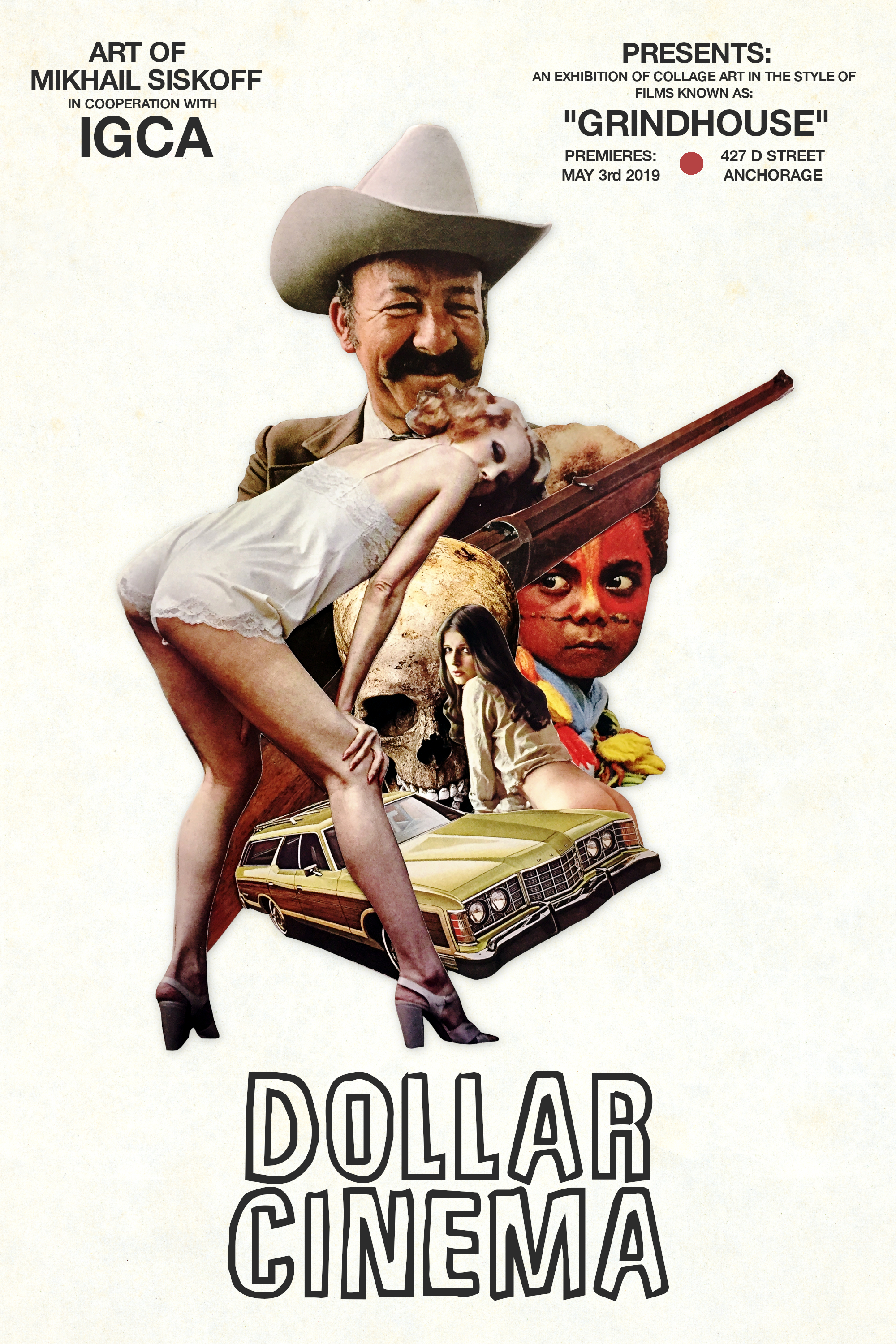 Mikhail Siskoff,  Dollar Cinema,  Collage