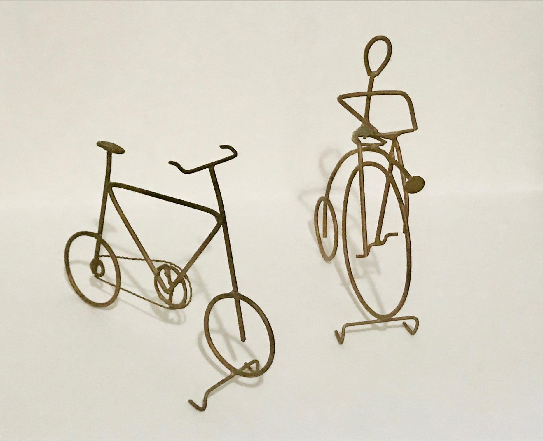 Frank Marrari,  Bicycle pair , steel