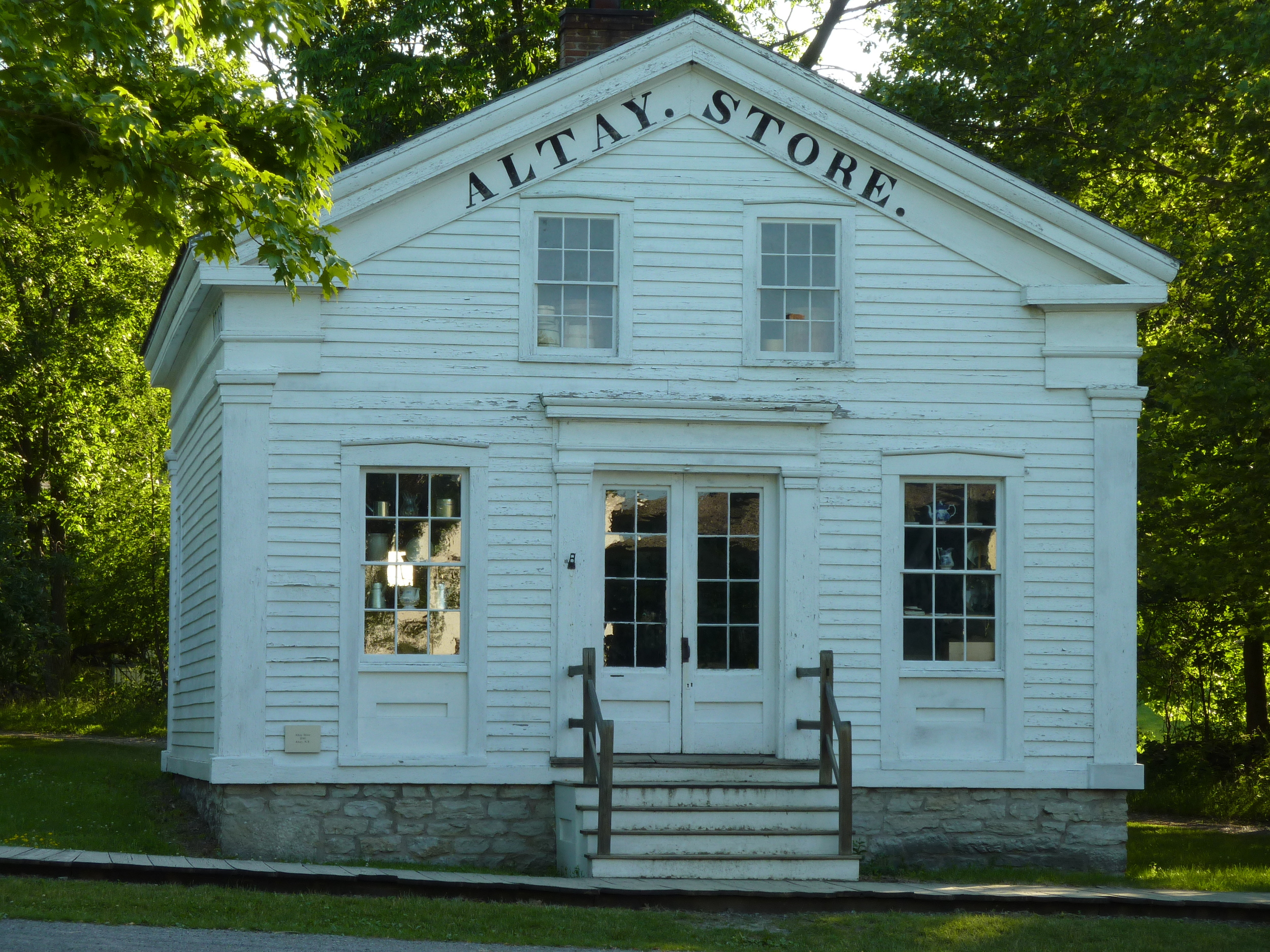 Drygoods shop at Genesee Valley County Village and Museum