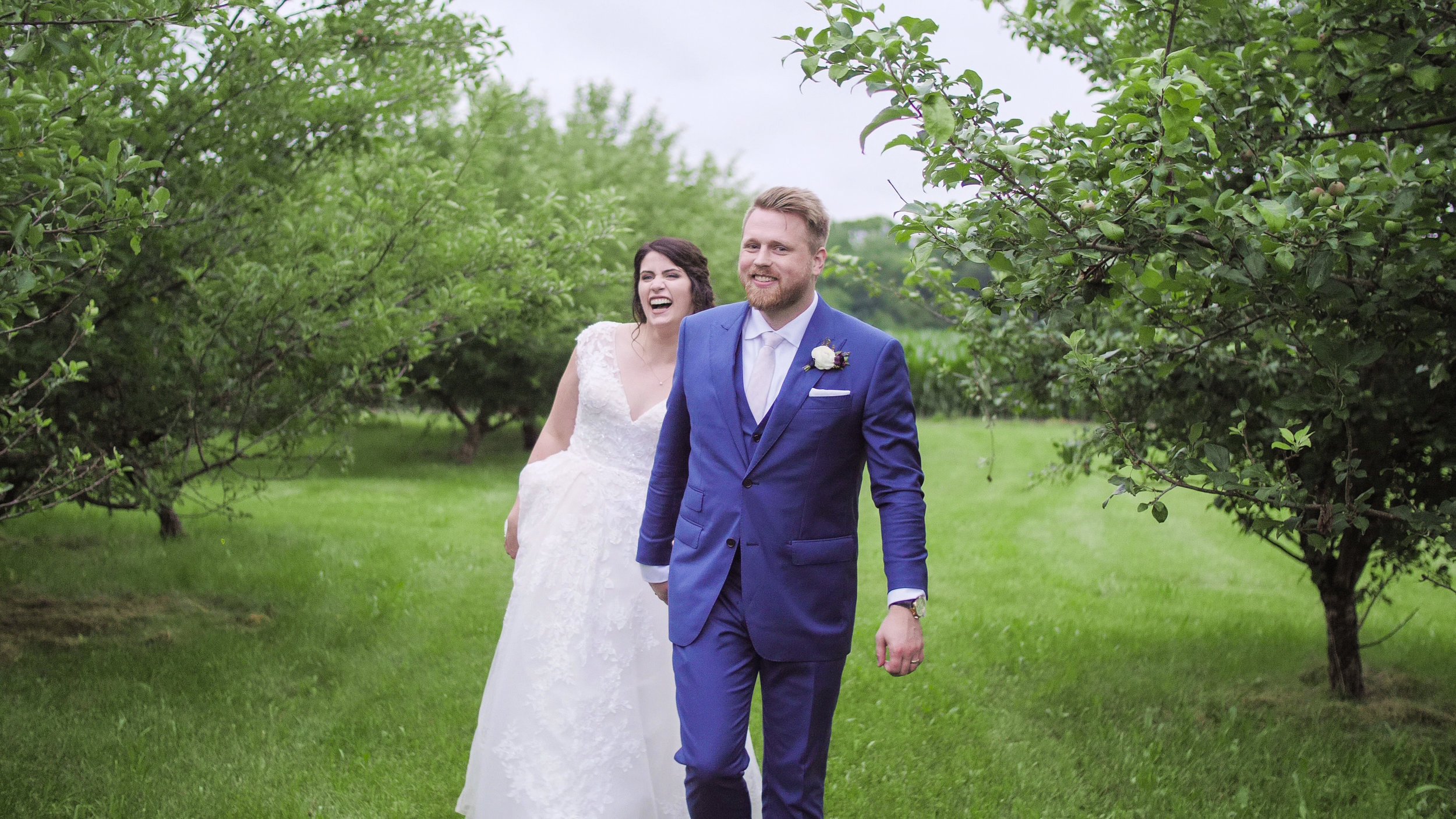 Lindsey & Ben - These two shared one of the most emotional ceremonies I've had the pleasure of filming.  The day of the wedding, it didn't just rain, it poured.  They were forced to move the ceremony into the reception space. The rain however didn't phase these two.  They were happy come rain or shine to vow their love to each other.
