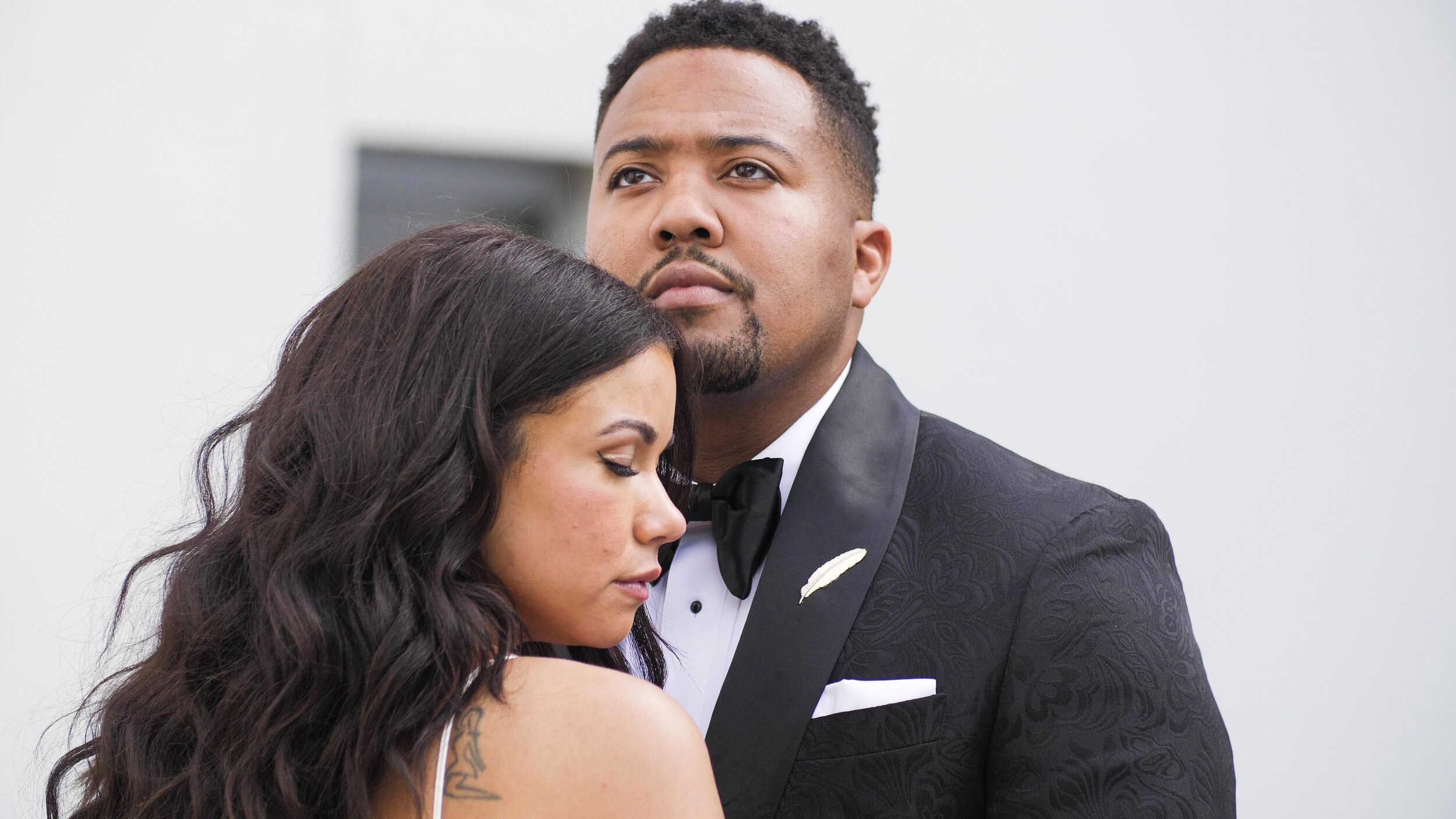 """Mercedes & Davonte - This beautiful Flint wedding was stylish and emotional.  These two are natural models!  Their love story started soon after their first date. Mercedes knew that night, her prayers had been answered. Davonte also knew he found his """"good thing""""."""
