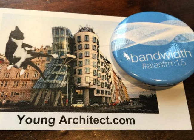 The Young Architect conference business card